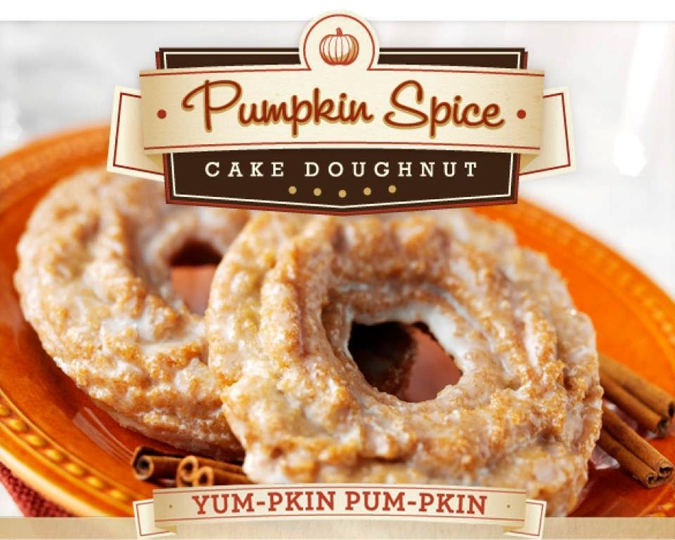 pumpkin spice doughnut