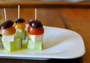 greek salad skewer