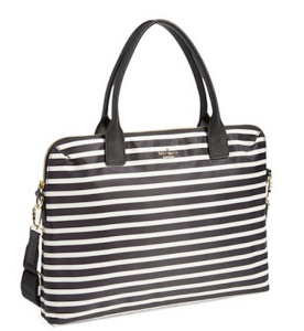 stripe laptop bag